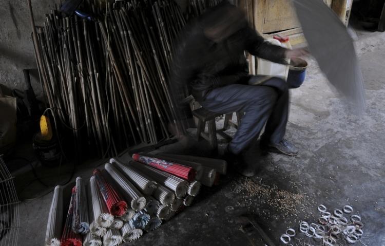 手工制作油纸伞 - 夹江摄影